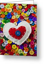 Heart Buttons Greeting Card by Garry Gay
