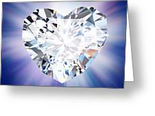 Heart Diamond Greeting Card by Setsiri Silapasuwanchai