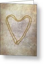 Heart Of Pearls Greeting Card by Joana Kruse