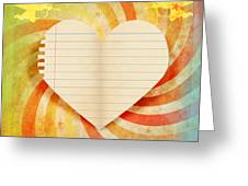 Heart Paper Retro Design Greeting Card by Setsiri Silapasuwanchai
