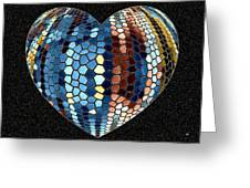 Heartline 4 Greeting Card by Will Borden