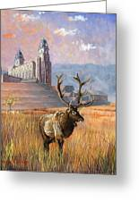 Heaven And Earth Greeting Card by Jeff Brimley