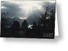 Heavenly Rays Greeting Card by Barbara Plattenburg