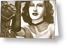 Heddy Lamar Greeting Card by Debbie DeWitt