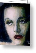 Hedy Lamarr Greeting Card by Paul Lovering
