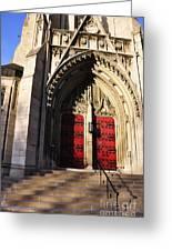 Heinz Chapel Main Entrance Greeting Card by Thomas R Fletcher