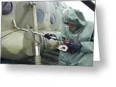 Helicopter Decontamination During Chernobyl Disast Greeting Card by Ria Novosti