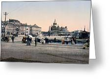 Helsinki Finland - Senate Square Greeting Card by Bode Stevenson