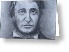 Henry David Thoreau Greeting Card by Jack Skinner
