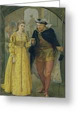 Henry Viii And Anne Boleyn  Greeting Card by Arthur Hopkins