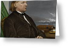 Henry Ward Beecher, Us Social Reformer Greeting Card by Maria Platt-evans
