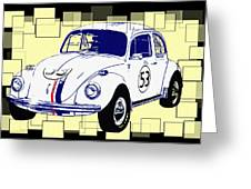 Herbie The Love Bug Greeting Card by Bill Cannon