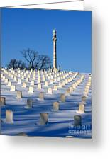 Heroes Peaceful Rest Greeting Card by David Bearden