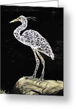 Heron Greeting Card by Tommy  Urbans