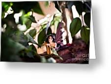 Hidden Fairy On A Log Greeting Card by Angelina Cornidez