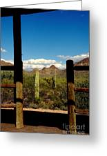 High Chaparral Old Tuscon Arizona  Greeting Card by Susanne Van Hulst