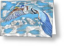 High Flying Greeting Card by Don  Gallacher