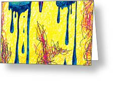 High Heels Abstraction Dripping Greeting Card by Kenal Louis
