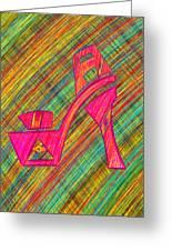 High Heels Power Greeting Card by Pierre Louis