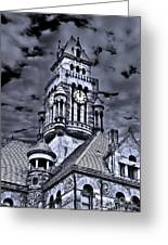 High Noon Black And White Greeting Card by Tamyra Ayles