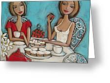 High Tea Greeting Card by Denise Daffara