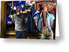 High Treason - State Of The Union-a House Divided1 Greeting Card by Reggie Duffie