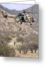 Hilean Special Forces Perform An Air Greeting Card by Stocktrek Images