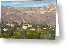 Hilly Residential Area Greeting Card by David Buffington