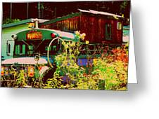 Hippie Camping Greeting Card by Cindy Wright