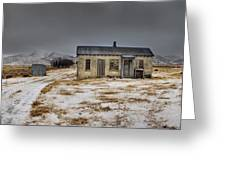 Historic Farm After Snowfall Otago New Greeting Card by Colin Monteath