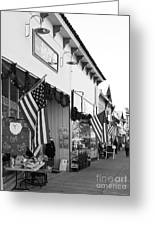 Historic Niles District In California Near Fremont . Main Street . Niles Boulevard . 7d10693 . Bw Greeting Card by Wingsdomain Art and Photography