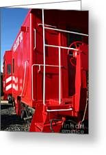 Historic Niles District In California Near Fremont . Western Pacific Caboose Train . 7d10622 Greeting Card by Wingsdomain Art and Photography