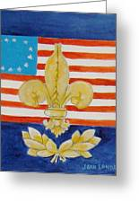 Historic Symbols Greeting Card by Joan Landry