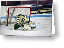 Hockey The Big Reach Greeting Card by Thomas Woolworth