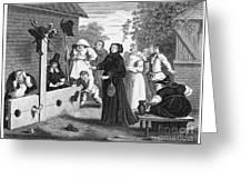 HOGARTH: HUDIBRAS, 1726 Greeting Card by Granger