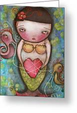 Holding Tight Greeting Card by  Abril Andrade Griffith