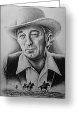 Hollywood Greats -robert Mitchum Greeting Card by Andrew Read