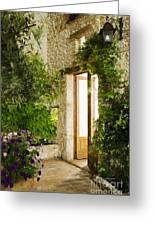 Home Entrance And Courtyard Greeting Card by Andersen Ross