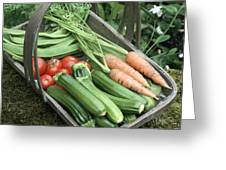 Home-grown Organic Vegetables Greeting Card by Sheila Terry