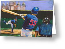 Home Run Greeting Card by Buffalo Bonker