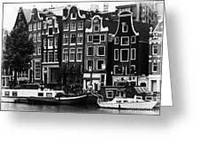 Homes Of Amsterdam Greeting Card by Leslie Leda
