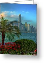 Hong Kong Mornings Greeting Card by Bibhash Chaudhuri
