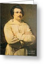 Honore De Balkzac, French Author Greeting Card by Photo Researchers