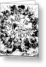Hoover Cartoon, 1931 Greeting Card by Granger