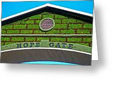 Hope Gate - Quebec City Greeting Card by Juergen Weiss