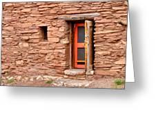 Hopi House Door Greeting Card by Julie Niemela