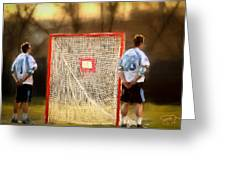 Hopkins Lacrosse Tradition Greeting Card by Scott Melby