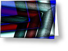 Horizontal Symmetry Greeting Card by Mario Perez