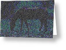 Horse Grazing Greeting Card by Day Williams