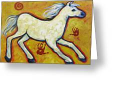 Horse Indian Horse Greeting Card by Carol Suzanne Niebuhr